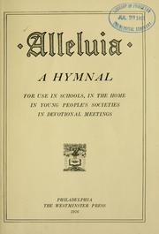 Cover of: Alleluia by Presbyterian Church in the U.S.A.