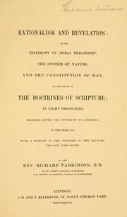 Cover of: Rationalism and revelation | Parkinson, Richard