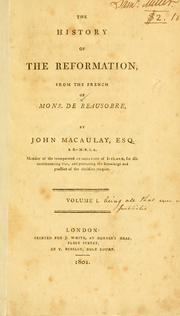 Cover of: The history of the Reformation by Isaac de Beausobre