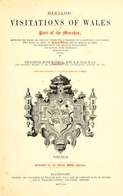 Cover of: Heraldic visitations of Wales and part of the Marches | Lewys Dwnn