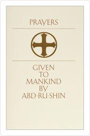 Cover Of Prayers Given To Mankind By Abd Ru Shin