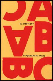 Cover of: Typographic facts | El Lissitzky