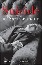 Cover of: Suicide in Nazi Germany | Christian Goeschel