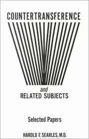 Cover of: Countertransference and Related Subjects by Harold F. Searles