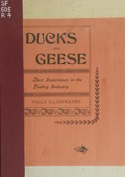 Cover of: Ducks and geese | Reliable Poultry Journal Publishing Company.