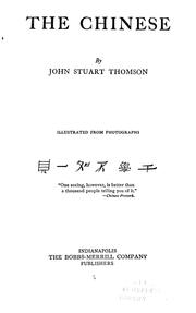 Cover of: The Chinese | John Stuart Thomson