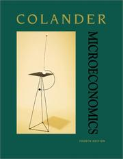 Cover of: Microeconomics | David Colander