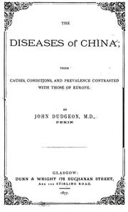The diseases of China