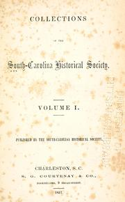 Collections of the South Carolina Historical Society
