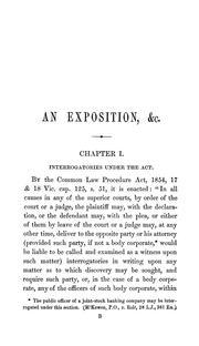Cover of: The law and practice relating to discovery by interrogatories under the Common law procedure act, 1854 by William Comer Petheram