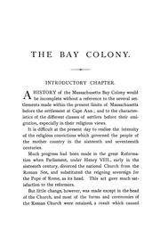 Cover of: The Bay colony | William Dummer Northend