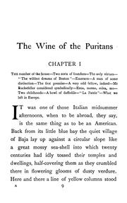 Cover of: The wine of the Puritans | Van Wyck Brooks