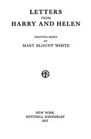 Cover of: Letters from Harry and Helen by Mary Blount White