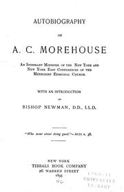 Cover of: Autobiography of A. C. Morehouse by Alonzo Church Morehouse