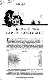 Cover of: How to make paper costumes by Dennison Manufacturing Company.