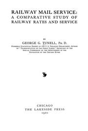 Cover of: Railway mail service | George G. Tunell