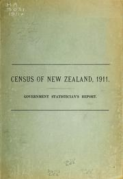 Cover of: Report on the results of a census of the Dominion of New Zealand | New Zealand. Dept. of Statistics.