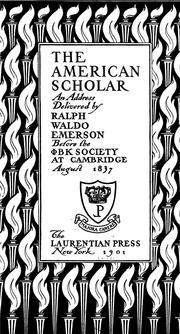 Ralph emerson essay the american scholar