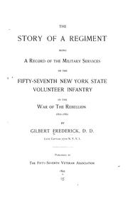 Cover of: The story of a regiment | Gilbert Frederick