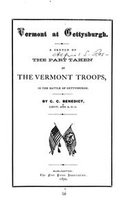 Cover of: Vermont at Gettysburgh | George Grenville Benedict