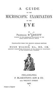 Cover of: Guide to the microscopic examination of the eye by Richard Greeff