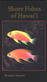 Cover of: Shore fishes of Hawaii | John E. Randall