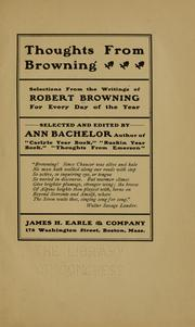 Cover of: Thoughts from Browning by Robert Browning
