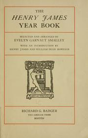 Cover of: The Henry James year book by Henry James, Jr.