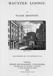 Cover of: Haunted London | Thornbury, Walter