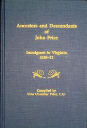 Cover of: Ancestors and Descendants of John Price by Vina Chandler Price