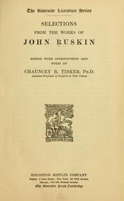 Cover of: Selections from Ruskin by John Ruskin