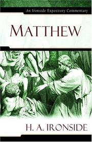 Cover of: Matthew by H. A. Ironside