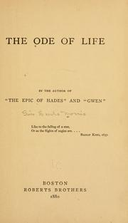 Cover of: The ode of life | Morris, Lewis Sir