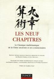 Cover of: Les neuf chapitres | Karine Chemla