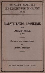 Cover of: Darstellende geometrie by Gaspard Monge