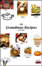 Cover of: 188 Grandmas Recipes | Hall, Jan