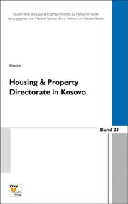 Cover of: Housing and Property Directorate - Claims Commission in Kosovo HPDCC | Hassine, Khaled