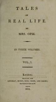 Cover of: Tales of Real Life by Amelia Alderson Opie