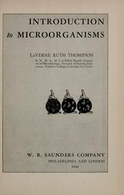 Cover of: Introduction to microorganisms | La Verne Ruth Thompson