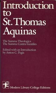 Cover of: Introduction To Saint Thomas Aquinas by Thomas Aquinas
