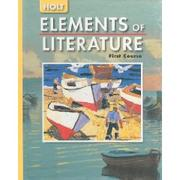 Cover of: Elements of Literature First Course Literary Elements | Victoria Holt