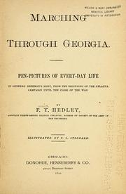 Cover of: Marching through Georgia by Fenwick Yellowley Hedley