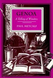 Cover of: Genoa | Paul C. Metcalf