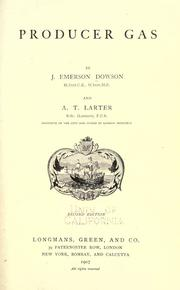 Cover of: Producer gas by Joseph Emerson Dowson