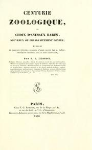 Cover of: Centurie zoologique by R. P. Lesson