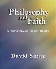 Cover of: Philosophy and Faith | David Shatz