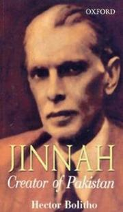 Cover of: Jinnah | Hector Bolitho