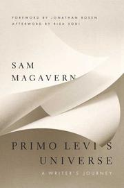 Cover of: Primo Levi's cosmos | Sam Magavern