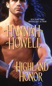 Cover of: Highland Honor | Hannah Howell