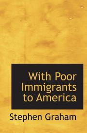 Cover of: With Poor Immigrants to America | Stephen Graham